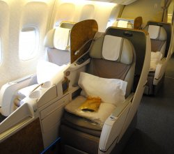 Emirates Boeing Business Class